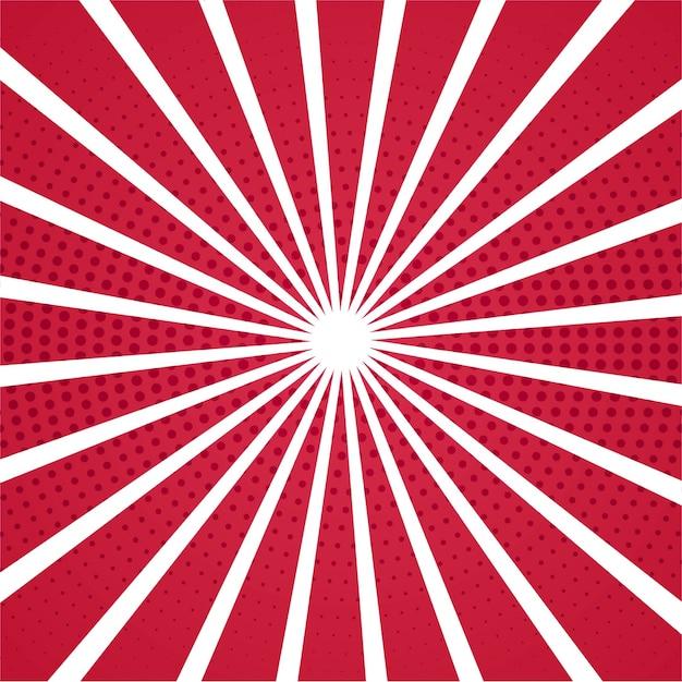 Fondo Rojo Y Blanco De Rayas