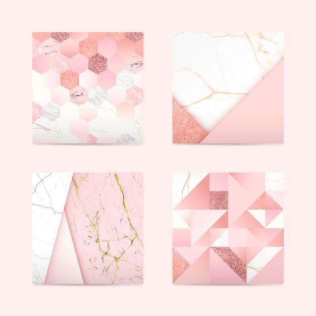 Fondo rosa femenino vector gratuito