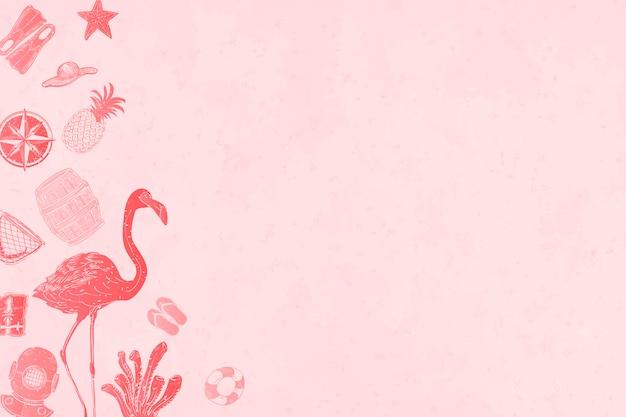 Fondo rosa de verano vector gratuito
