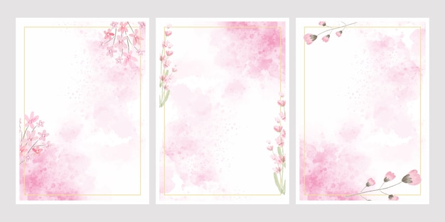 Fondo De Salpicaduras De Flores De Acuarela Rosa Con