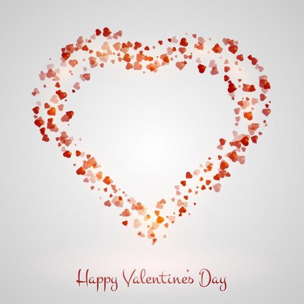Fondo De San Valentín Con Corazón Hecho Con Corazones Descargar