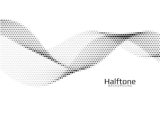 Fondo de semitono de estilo de onda abstracta vector gratuito