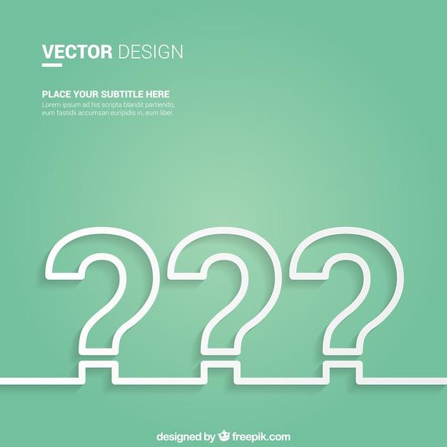 Fondo de signo de interrogación Vector Premium