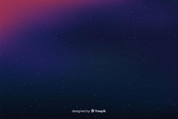 Fondo simple noche estrellada en gradiente vector gratuito