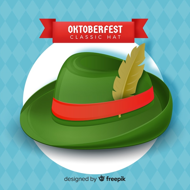 Fondo con sombrero clásico de oktoberfest  0c6fe33b74b9