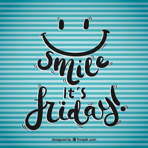 Fondo de sonríe es viernes vector gratuito