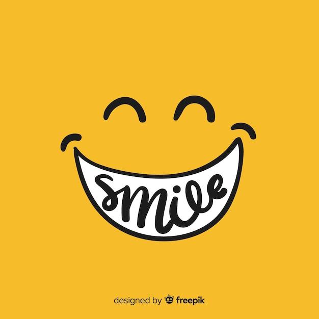 Fondo sonrisa simple vector gratuito