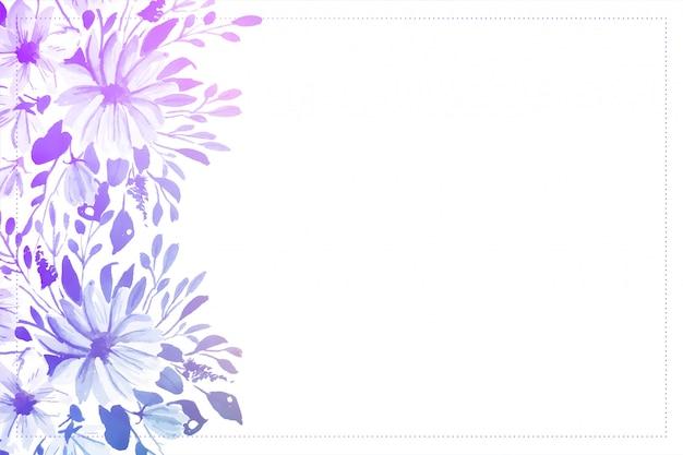 Fondo suave elegante flor acuarela con espacio de texto vector gratuito