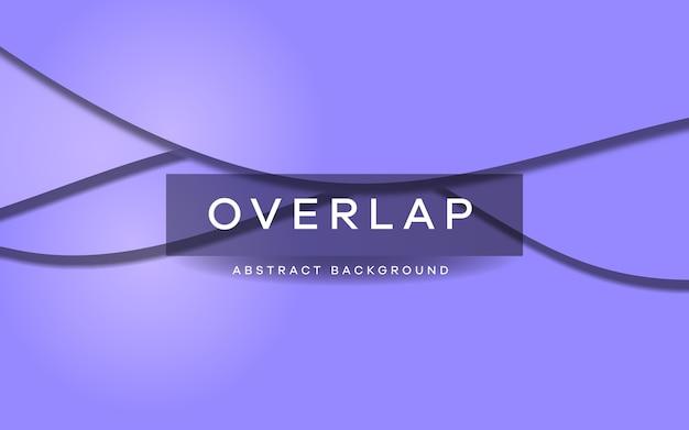 Fondo de superposición de ondas en color púrpura Vector Premium