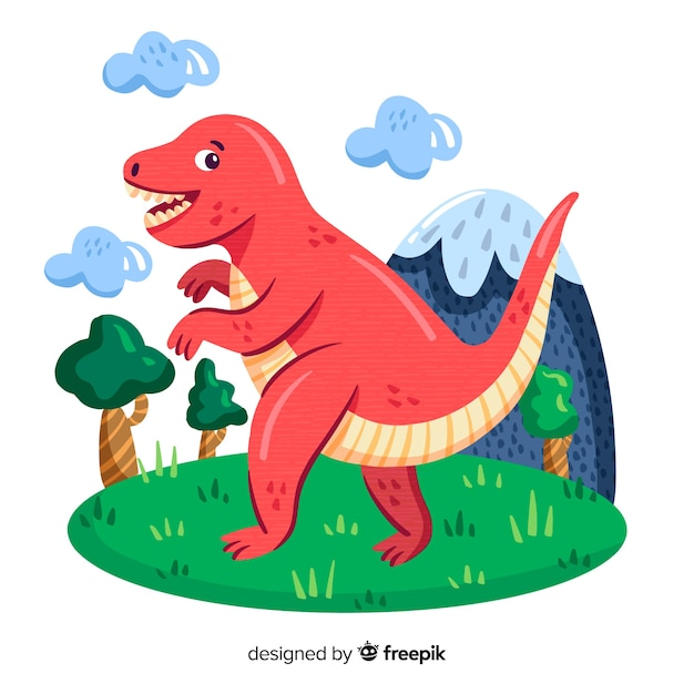 Fondo De T Rex Dibujado A Mano Vector Premium The battles that may have occurred between tyrannosaurus rex and triceratops are a recurring theme in popular science and dinosaurs' depiction in culture. https www freepik es profile preagreement getstarted 4429205