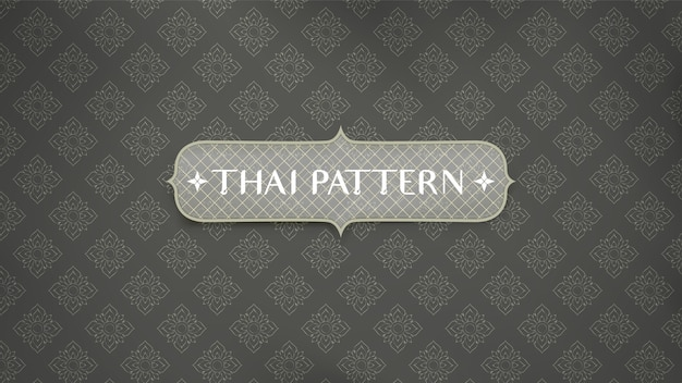 Fondo tailandés tradicional abstracto del modelo. Vector Premium