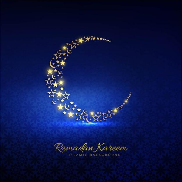 Fondo de tarjeta religiosa decorativa de ramadán kareem vector gratuito