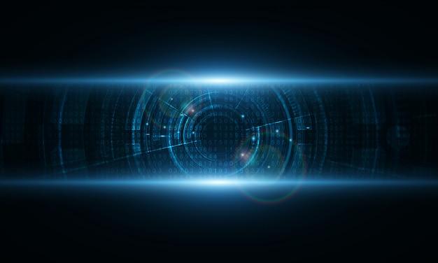 Fondo de tecnología abstracta fondo de innovación de concepto de comunicación de hitech Vector Premium
