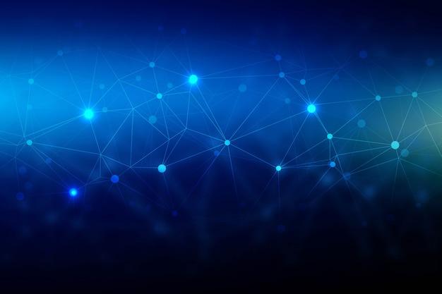 Fondo de tecnología abstracta polígono de alambre vector gratuito