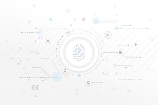 Fondo de tecnología blanca con flechas vector gratuito