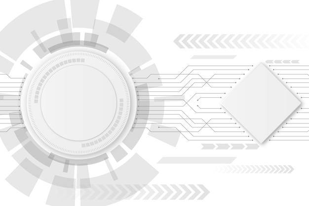 Fondo de tecnología blanca vector gratuito