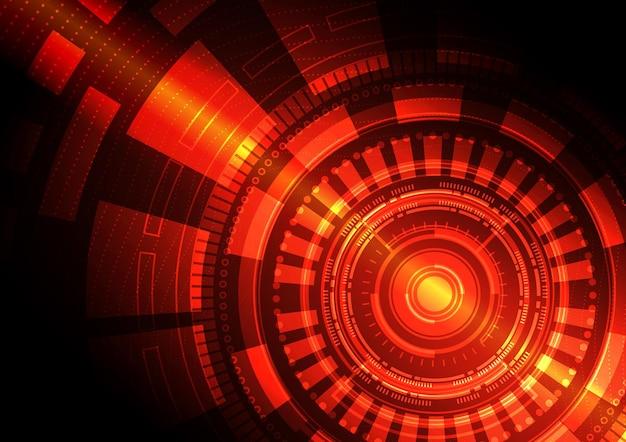 Fondo de tecnología de circuito con conexión de datos digitales Vector Premium