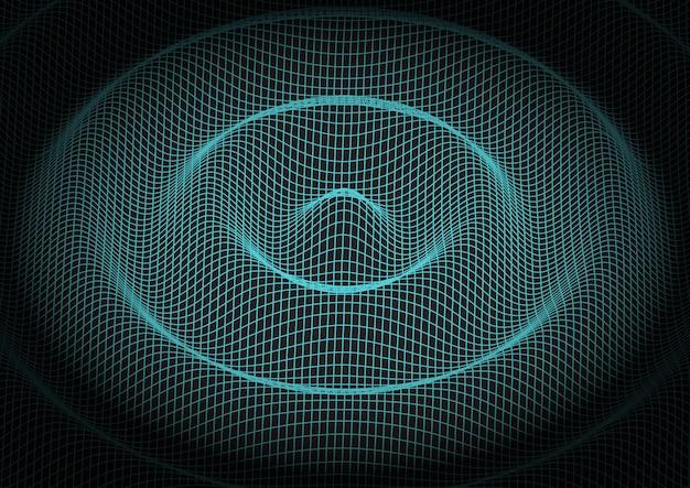 Fondo de tecnología de cuadrícula abstracta vector gratuito