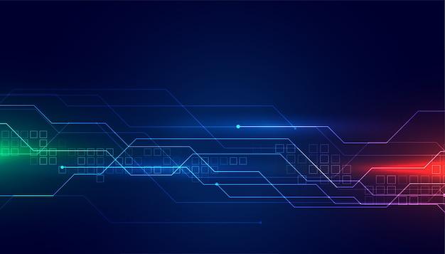 Fondo de tecnología de diagrama de circuito digital vector gratuito