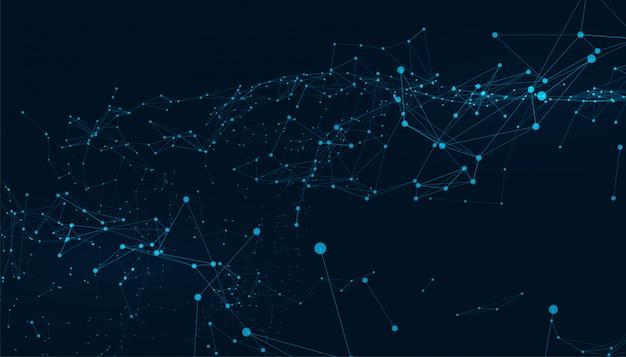 Fondo de tecnología digital de líneas de conexión de baja poli abstracta vector gratuito