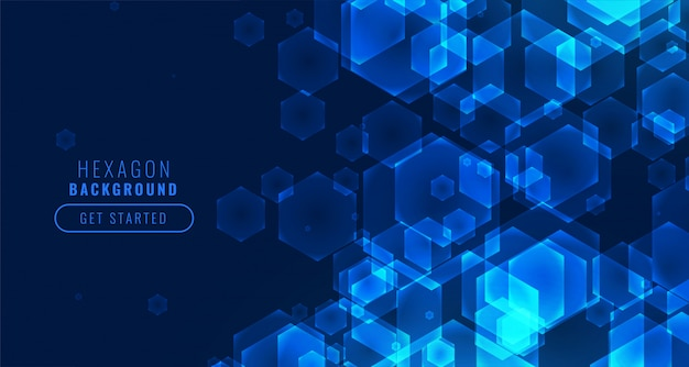 Fondo de tecnología de forma hexagonal digital futurista vector gratuito
