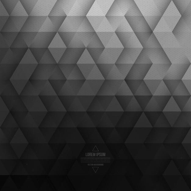 Fondo de tecnología geométrica abstracto vector gris Vector Premium