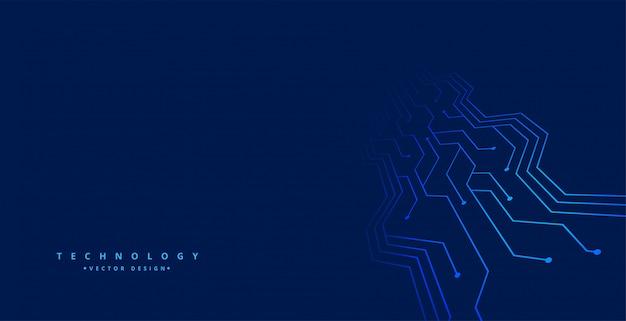 Fondo de tecnología con líneas de placa de circuito vector gratuito
