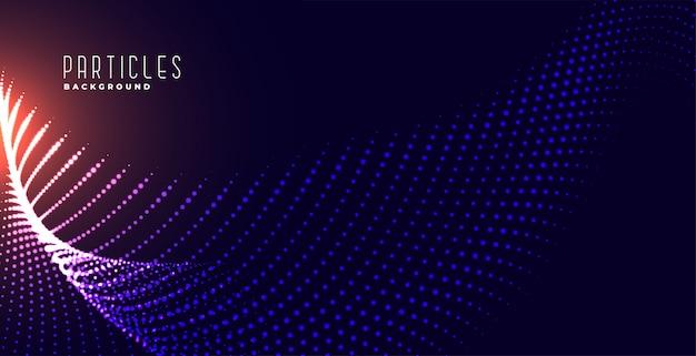 Fondo de tecnología de malla de partículas brillantes digitales vector gratuito