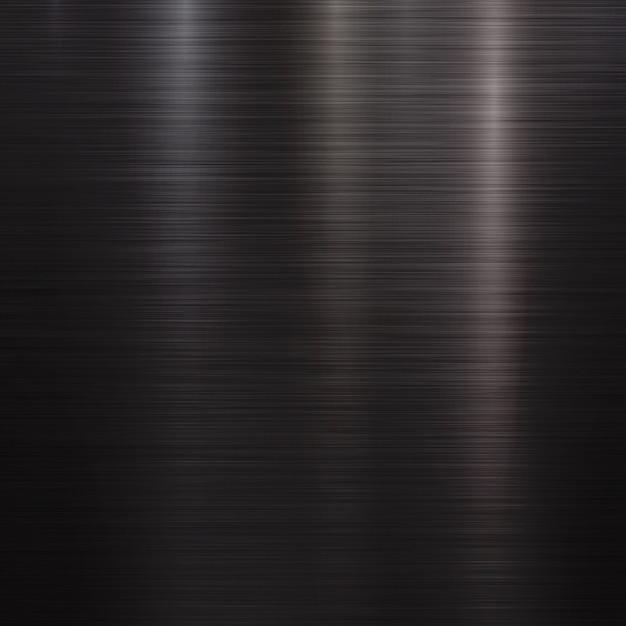Fondo de tecnología de metal negro Vector Premium