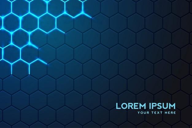 Fondo de tecnología moderna con fondo hexagonal vector gratuito
