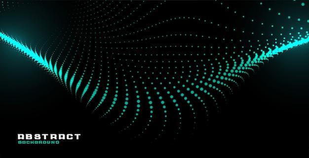 Fondo de tecnología de onda de partícula abstracta brillante vector gratuito