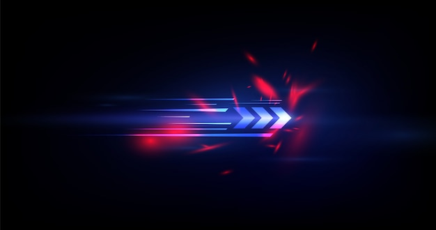 Fondo de tecnología de velocidad abstracta Vector Premium