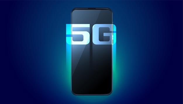 Fondo de tecnología de velocidad rápida de quinta generación digital móvil vector gratuito