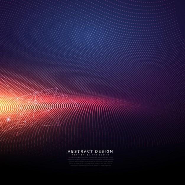 Fondo tecnológico abstracto con efecto de luz vector gratuito