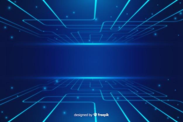 Fondo tecnológico azul abstracto vector gratuito
