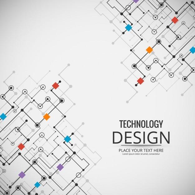 Fondo tecnológico con un circuito Vector Gratis
