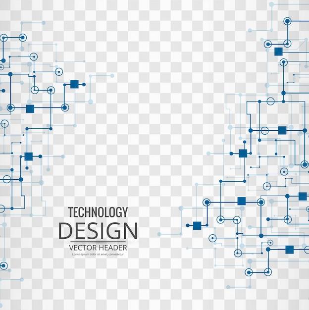 Fondo tecnológico con enlaces azules vector gratuito