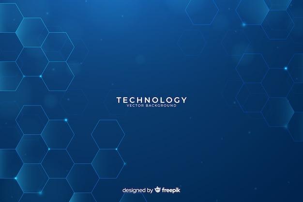 Fondo tecnológico vector gratuito