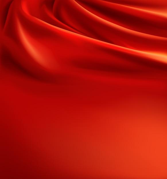 Fondo de tela roja realista vector gratuito