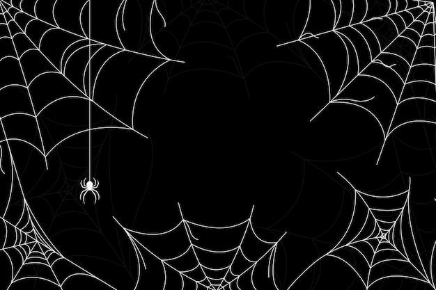 Fondo de telaraña de halloween vector gratuito