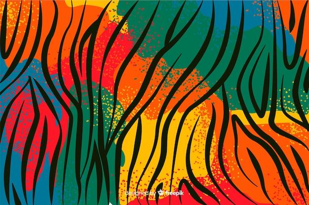 Fondo de telas africanas y piel de animales Vector Premium