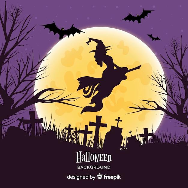 Fondo terrorífico de halloween dibujado a mano vector gratuito