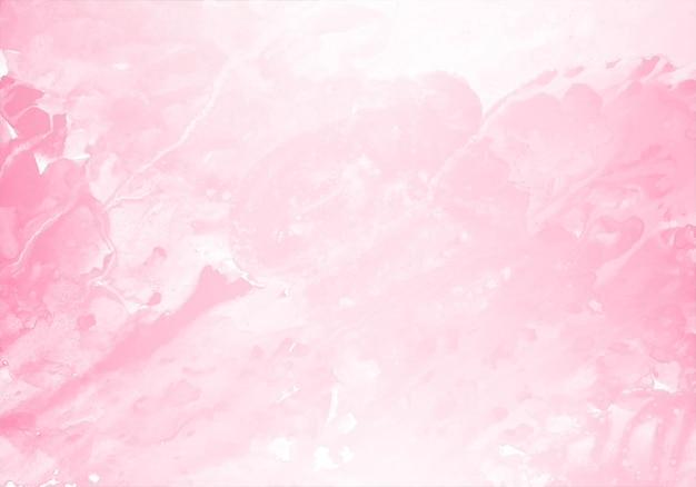 Fondo de textura de acuarela abstracta splash rosa claro vector gratuito