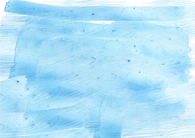 Fondo de textura de acuarela de flujo de tinta abstracto azul suave Vector Premium