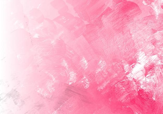 Fondo de textura de acuarela rosa abstracta vector gratuito