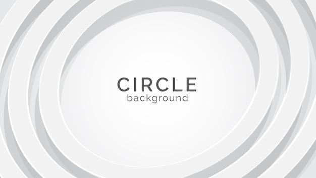 Fondo de textura blanca circular Vector Premium