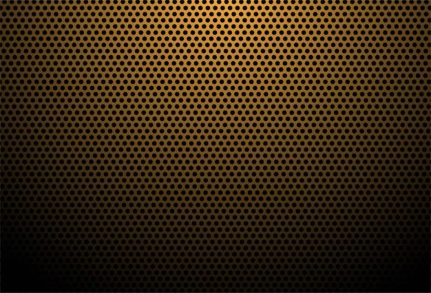 Fondo de textura de fibra de carbono naranja vector gratuito