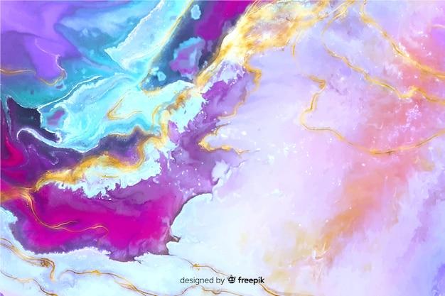 Fondo de textura de mármol con pintura vector gratuito