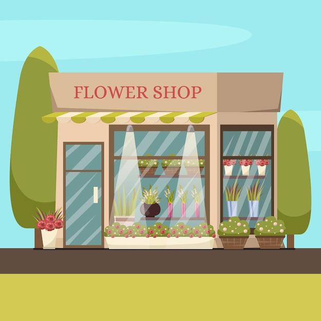 Fondo de la tienda de flores vector gratuito