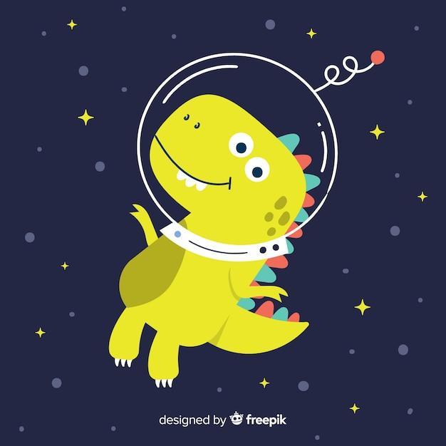 Fondo de tiranosaurio rex dibujado a mano vector gratuito